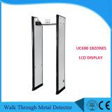 Una camminata di 18 zone tramite il metal detector con il metal detector di obbligazione di sensibilità dei 255 livelli uno schermo da 5.7 pollici