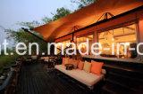 Forte tenda della struttura con safari del lusso della pelle dei muri laterali del PVC il doppio