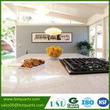 Witte Countertop van de Keuken van het Kwarts met Middelgrote Spaanders