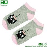 Носки лодыжки женщин хлопка картины кота изготовленный на заказ