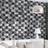 De nieuwe Moderne Decoratieve Muur die van de Muur van het Ontwerp 3D Behang met een laag bedekt