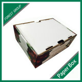 Caixa de cereja de papel com janela de PVC de plástico