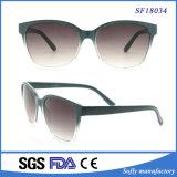 Nuevo gafas de sol polarizadas de la fábrica marco translúcido verde oscuro de moda