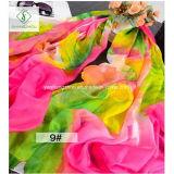 2017 drukte de Nieuwste Manier Dame Chiffon Silk Scarf Flower Sjaal af