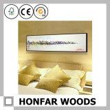Decoração de parede Rectangle branco Pintura em madeira Quadro de fotos