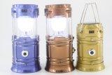 プラスチック6 LED安く携帯用小型屋外の太陽懐中電燈再充電可能なLEDのキャンプのランタン