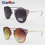 Óculos de sol fêmeas do metal com parte dianteira oca (KS1244)