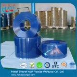 Cortina de puerta azul lisa de tira del PVC del plástico de vinilo del congelador de refrigerador