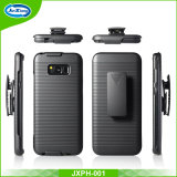 Samsung S8를 위한 Kickistand Belt Clip Holster Combo Case를 가진 높은 Quality Combination
