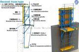 構築のための上昇の具体的な型枠をクレーン持ち上げなさい