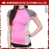 昇華印刷の長い袖の女性(ELTRGJ-264)のための無謀な監視ワイシャツ