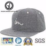 Chapeau 2017 gris de Microfiber Snapback de bonne mode d'OEM avec le logo de broderie