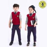Chemises et pantalon de chandail de 3 parties pour des enfants d'uniformes scolaires