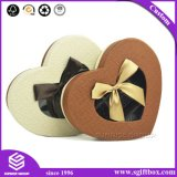 Rectángulo de empaquetado del chocolate de la dimensión de una variable del corazón del regalo de la ventana plástica