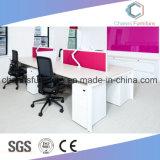 Poste de travail de bureau d'ordinateur de bureau de partition de couleur de rose d'épaisseur du bâti 25mm en métal
