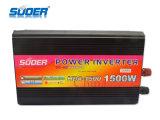 Prix usine de Suoer 1500W outre d'inverseur de l'inverseur 12V de réseau avec le chargeur (HAD-1500D)