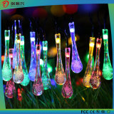 LED Solar Garden String Lights Outdoor Fairy Multi-Color Cristal Waterdrops Patio Lights for Party