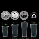 [بّ] يخلون 500 [مل] عصير فنجان بلاستيكيّة مع تغطية
