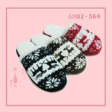 Wonmen invierno caliente cubierta suave zapatillas Niza lana Tejer