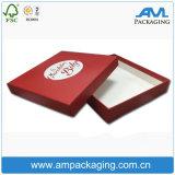 Rojo impreso barato al por mayor de embalaje de chocolate de alimentos Garde caja de embalaje
