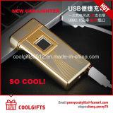 Haute qualité Métal à empreintes digitales USB rechargeable double allumeur à arc