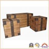 circuito di collegamento di legno naturale rustico decorativo di 3-PC Brown
