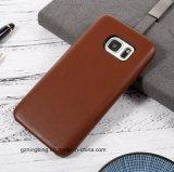 Cas de téléphone cellulaire de cuir véritable pour la galaxie S7 de Samsung