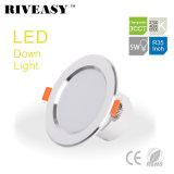 5W 3.5 인치 3CCT LED Downlight는 Ce&RoHS 천장 램프로 아래로 점화한다