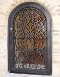 よい価格の庭のための鉄によってカスタマイズされる単式記帳のドア