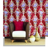 Vinilo Damasco del papel pintado de Wallcovering 1.06*15.6 del papel pintado para la decoración interior