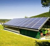 sistema di energia solare di su-Griglia del tetto piano 5kw/tetto del metallo