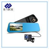 Carro DVR do gravador de vídeo de Dashcam do espelho da câmera de um Rearview de 4.3 polegadas auto