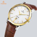 Hete Horloge van de Mensen van de Riem van het Leer van het Embleem van de douane verkoopt het In het groot Echte, Horloge 72812 van de Mensen van de Manier