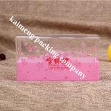Складчатости пакета Китая коробка оптовой ясной пластичная с прикрепленной на петлях крышкой
