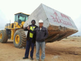 27 tonnellate della rotella di caricatore del carrello elevatore per il blocco che alza usando al Ce della cava