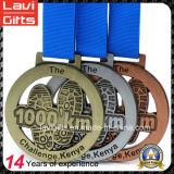 공장 스포츠 메달을 달리는 주문 금속 스포츠