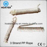 Línea de amarradura flotante del ancla cuerda del infante de marina de los PP 3strand del nilón