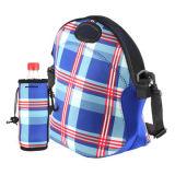 肩ひもが付いている方法によって印刷されるネオプレンの昼食のクーラー袋