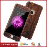 Plein cas en bois protecteur de téléphone mobile de PC des graines de 360 degrés