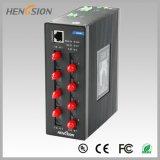 8 accesos de Fx e interruptor de red industrial manejado 2 gigabites