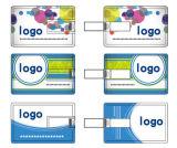 La insignia imprimió el mecanismo impulsor del flash del USB de la tarjeta de crédito