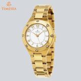 Edelstahl-Brücke-arabische Zahl-Armbanduhr-kundenspezifisches Firmenzeichen-fördernde Uhren 71035