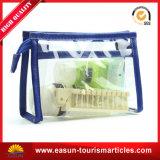 Bolsa de cosméticos de PVC transparente promocional à prova d'água