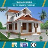 Chalet de lujo prefabricado/diseño prefabricado de la casa del chalet/casa de planta baja de acero prefabricada