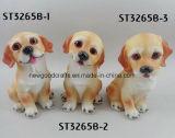 Het echte Aanbiddelijke Ornament van het Cijfer van de Hond van de Hars van de Zitting van het Huisdier van het Puppy van het Standbeeld Model Stellende