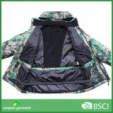 Куртка лыжи 3XL Camo Mens с капюшоном водоустойчивая