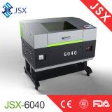 Jsx 6040の打抜き機を切り分ける小さいデスクトップの非金属二酸化炭素レーザー