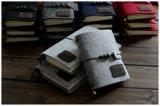 Libreta del papel de Kraft del pirata, cuadernos grises de la felpa 16k