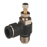 파란 단추 (PT12-04)에를 가진 압축 공기를 넣은 이음쇠