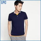 Het blauwe Overhemd van het Katoenen Zachte en Comfortabele Polo van de Manier